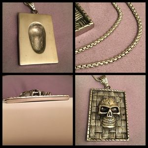 Other - Skull Head Dog Tag Style Pendant